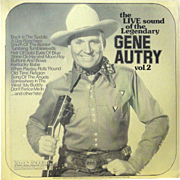 Vintage rare Gene Autry vinyl album, early recordings, imported, SEALED