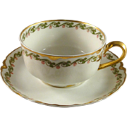 Haviland & Co cup and saucer set, Limoges vintage excellent condition