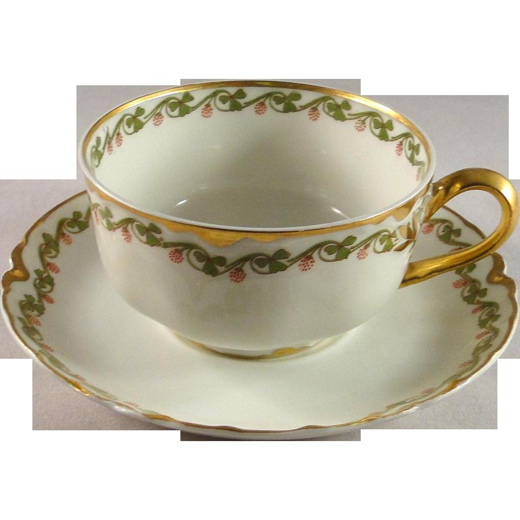 Haviland & Co Cup And Saucer Set, Limoges Vintage