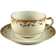 Vintage Haviland & Co cup and saucer set, Louvain pattern