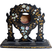 Victorian Inlaid Mother of Pearl Watch Holder