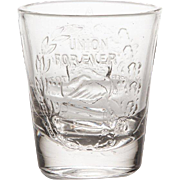CIVIL WAR COMMEMORATIVE TUMBLER CIRCA 1865