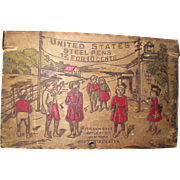 Pyrography country store pen display box