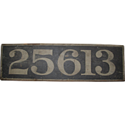 Late 19th C wooden sign