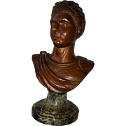 Victorian era carved bust of Caesar