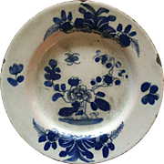 18th c. Irish Delft Plate ca 1760