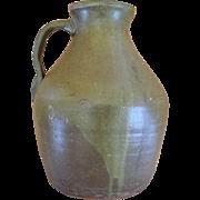 19th Century American  Alkaline-glazed Pitcher   Ca. 1870 - 1900