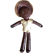 Early 20th Century Black Folk Art Doll  From Charleston South Carolina  ca. 1910
