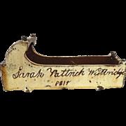 19th Century English Slipware Craddle  dated 1815
