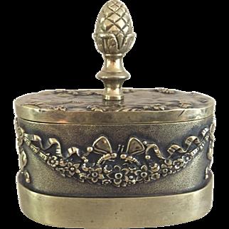 19th Century European Brass Standish Inkwell Set   ca. 1830 - 1850