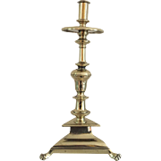 17th Century Dutch Brass Candlestick ca 1690