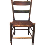 19th Century American Painted Thumb Back Windsor Chair ca. 1840