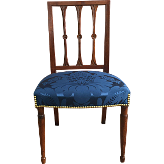 19th Century American Virginia Mahogany Neoclassic Side Chair  ca. 1800