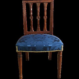 19th Century American Virginia Mahogany Neoclassic Side Chair  ca. 1800