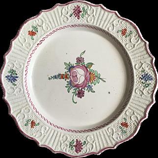 18th Century English Salt-glazed Polychrome Plate  ca. 1760