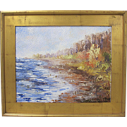 Alexandre Renoir Original Oil French Impressionist Coastal Landscape 16x20