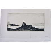 """David Young DY Cameron SIGNED """"Killundine"""" Drypoint and Etching"""