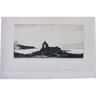 "David Young DY Cameron SIGNED ""Killundine"" Drypoint and Etching"