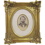 Vintage Decor Victorian Style Oval Frame Gold Gilt Wood