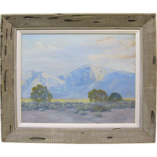George Bickerstaff Early California Plein Air Desert Mountain Landscape