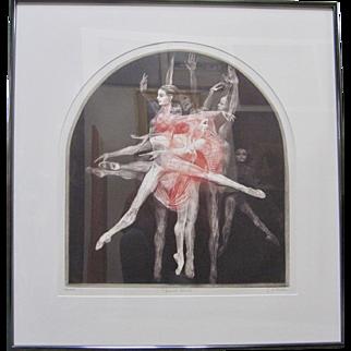 """G.H. ROTHE Signed """"Grand Saute"""" Dance Suite Large Ballet Dancer Art"""