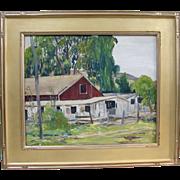 Early California Plein Air Original Impressionist Oil Painting Reiffel Student