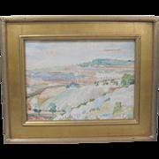 J. Barry Greene 1930 Vintage Original Tarragona Spain Watercolor Painting - Red Tag Sale Item