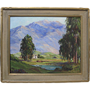 Joane Cromwell Early California Plein Air Impressionist Eucalyptus Mountain Landscape