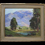 Joane Cromwell Early California Plein Air Impressionist Eucalyptus Mountain Landscape