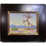 "Joane Cromwell Original California Plein Air Impressionism Oil Painting ""Joshua Trees"" 9X12"