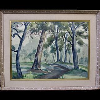 J. MILFORD ELLISON Mid-Century CA Plein Air Original Landscape Painting