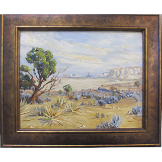 Early California Plein Air Palm Springs Desert Oil Painting Listed Artist Jay Lee Cross