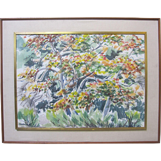 J. MILFORD ELLISON Early CA Plein Air Original Mid-Century Landscape Painting