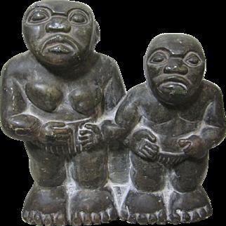 JOSEPH NDANDARIKA Shona Stone Sculpture African Men Zimbabwe COA