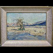 Karl Yens Early California Plein Air Desert Joshua Tree Oil Painting 1935