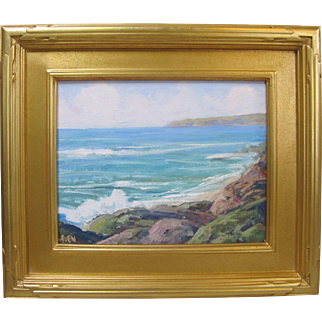 Kevin Yuen California Plein Air Original Seascape Oil Painting