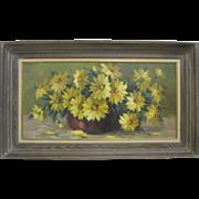 Lenore Watson Sherman Original Daisies Still Life Listed California Art