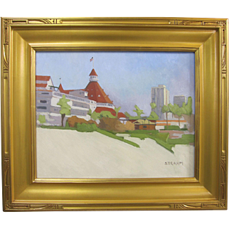 Paul Strahm Hotel del Coronado Listed California Oil Painting 16x20
