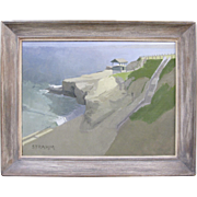 Paul Strahm Listed Original Oil Painting Shell Beach La Jolla CA