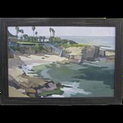 Paul Strahm Listed California Original Oil Painting La Jolla Cove San Diego