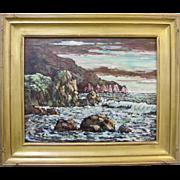 Roger Bud Upton Little Harbor Catalina Island Original California Oil Painting