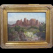 Edith Purer Listed Artist Sedona Arizona Oak Creek Canyon Oil Painting