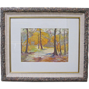 Salvatore Salla Listed Artist CA Watercolor Impressionism Woods Landscape Trees