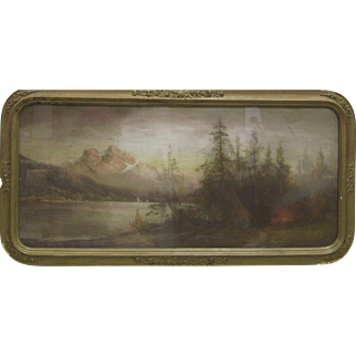 William Henry Chandler Antique 19th Century Pastel Hudson River School Luminist Landscape