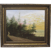 William Van Zandt Hudson River School Listed New York Oil Painting 1923