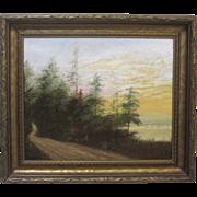 William Van Zandt Hudson River School Listed New York Oil Painting 1923