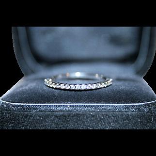 Timeless & Versatile Diamond Wedding, Anniversary, Right Hand or Stacking Ring in 10 Karat White Gold - FREE International Shipping