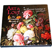 """Art & Love: The Metropolitan Museum of Art"" - Kate Farrell, 1990 First Edition - FREE Shipping"