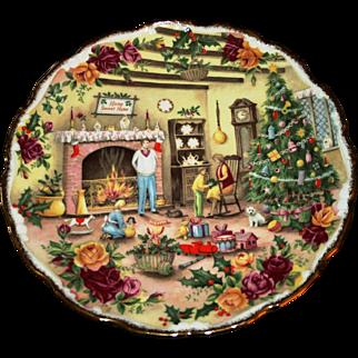 Delightful & Festive, Vintage Royal Albert Fine Bone China Decorative Christmas Plate, Fred Errill Artwork