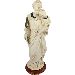 19th century french statue of saint Joseph